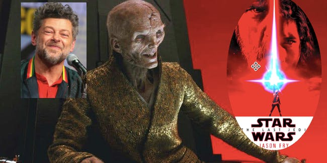 Actor Andy Serkis brought a complicated backstory into his portrayal of Supreme Leader Snoke, but it's one we might never learn.