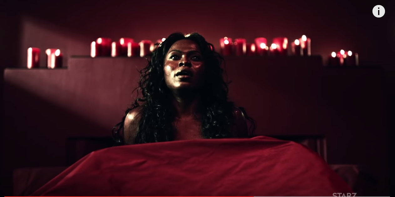 Yetide Badaki as Bilquis in a certain infamous scene