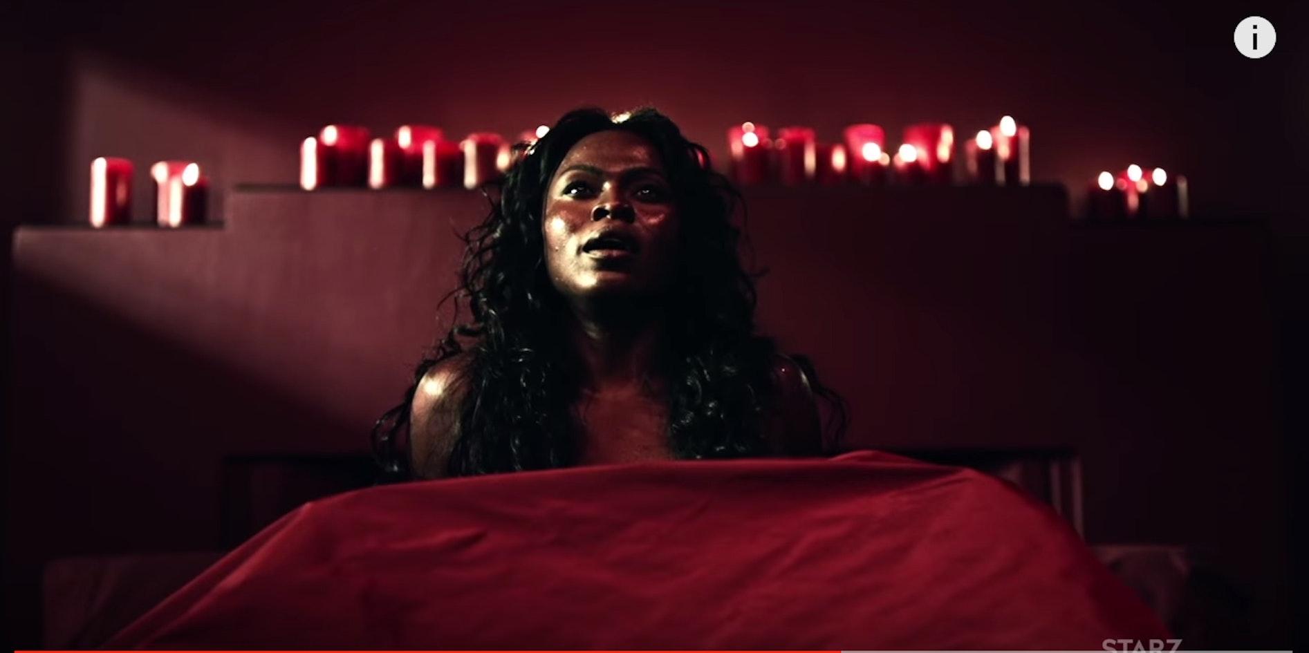 Yetide Badaki as Bilquis in a certain infamous scene