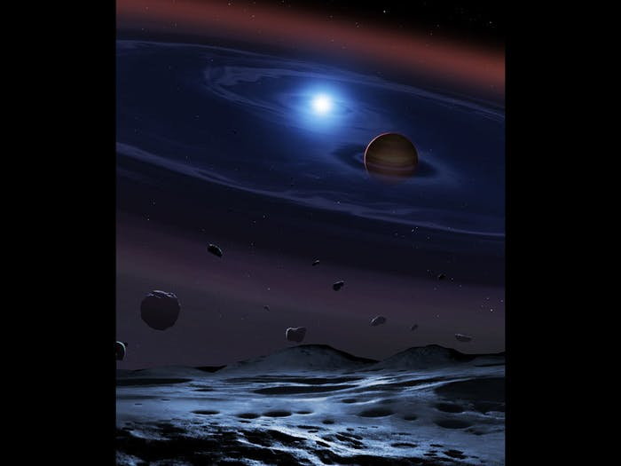 The first evidence of rocky planet formation in a Tatooine-like system has been found.