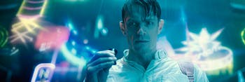 Joel Kinnaman plays Takeshi Kovacs in 'Altered Carbon', but that's not his original body.