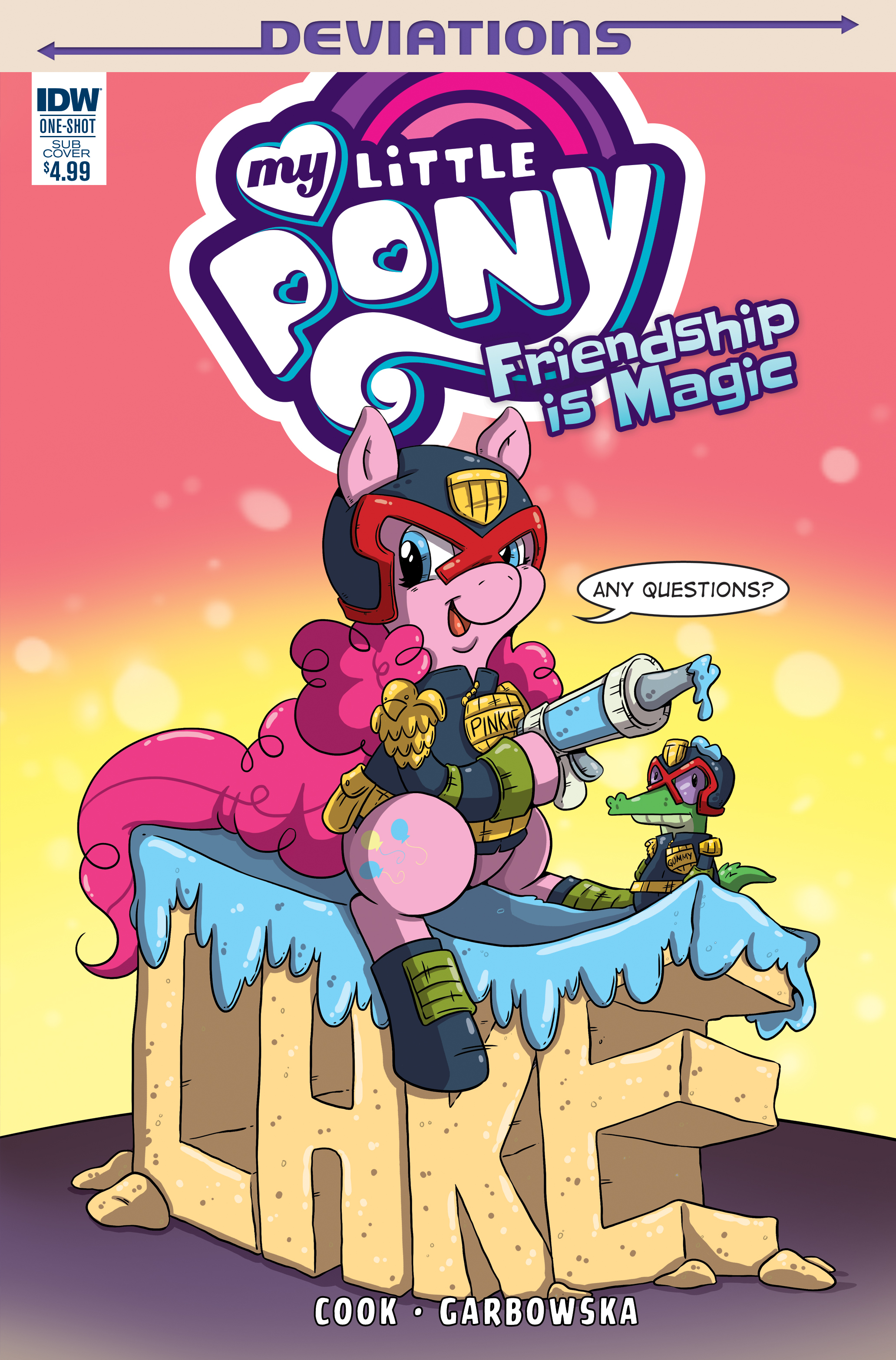 My Little Pony Judge Dredd variant cover for IDW