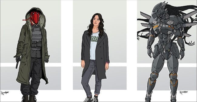 The Wild Storm character designs