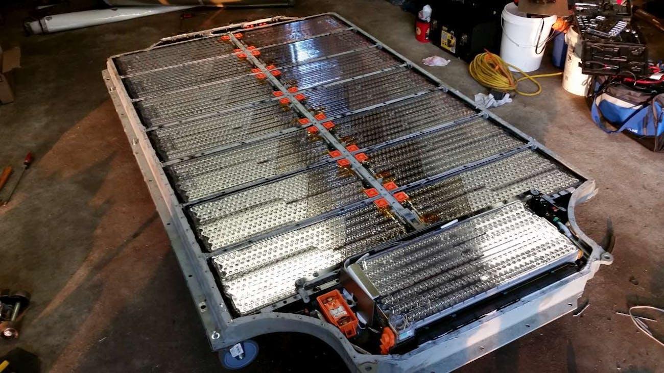Tesla Model S Battery Pack.
