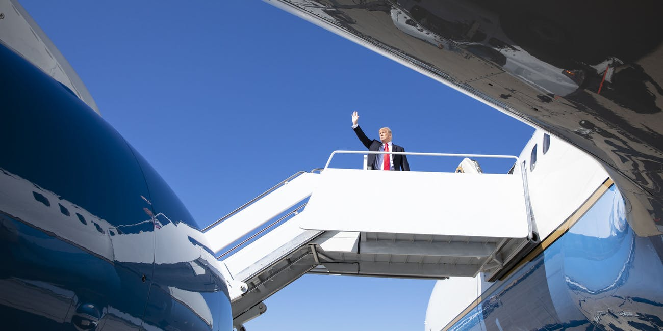 President Donald J. Trump Boards Air Force One