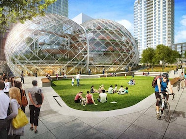 Amazon Domes Will Bring the Jungle to Downtown Seattle