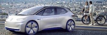 Volkswagen I.D. proposal electric car manufacturer Tesla 2020 production