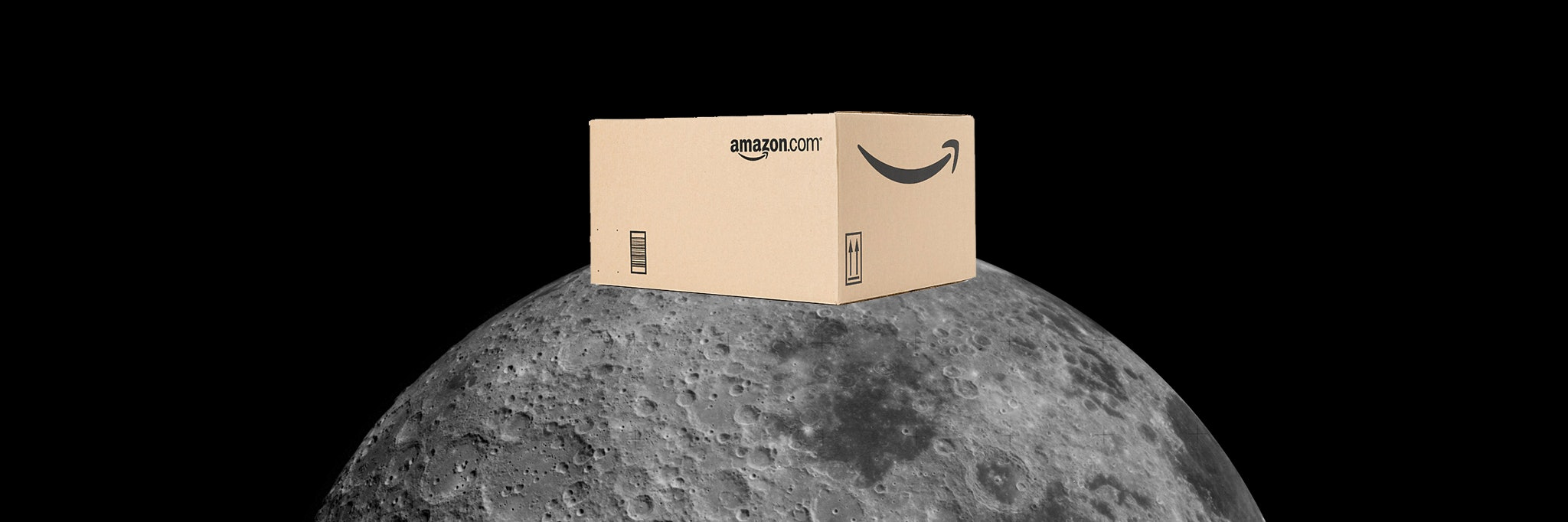 Blue Origin run by Jeff Bezos and Amazon have a plan to deliver packages to the moon for future moon colonies.