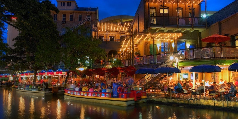 San Antonio Riverwalk blue hour