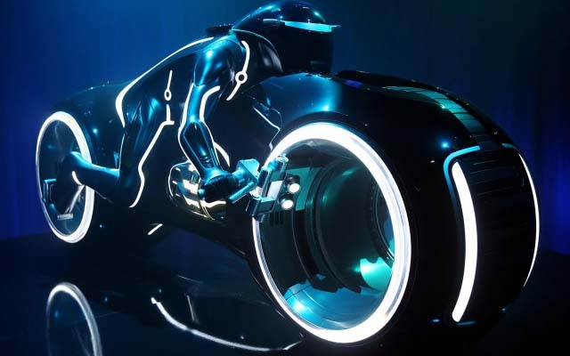 The motorcycle from 'Tron' had to be an inspiration, right?