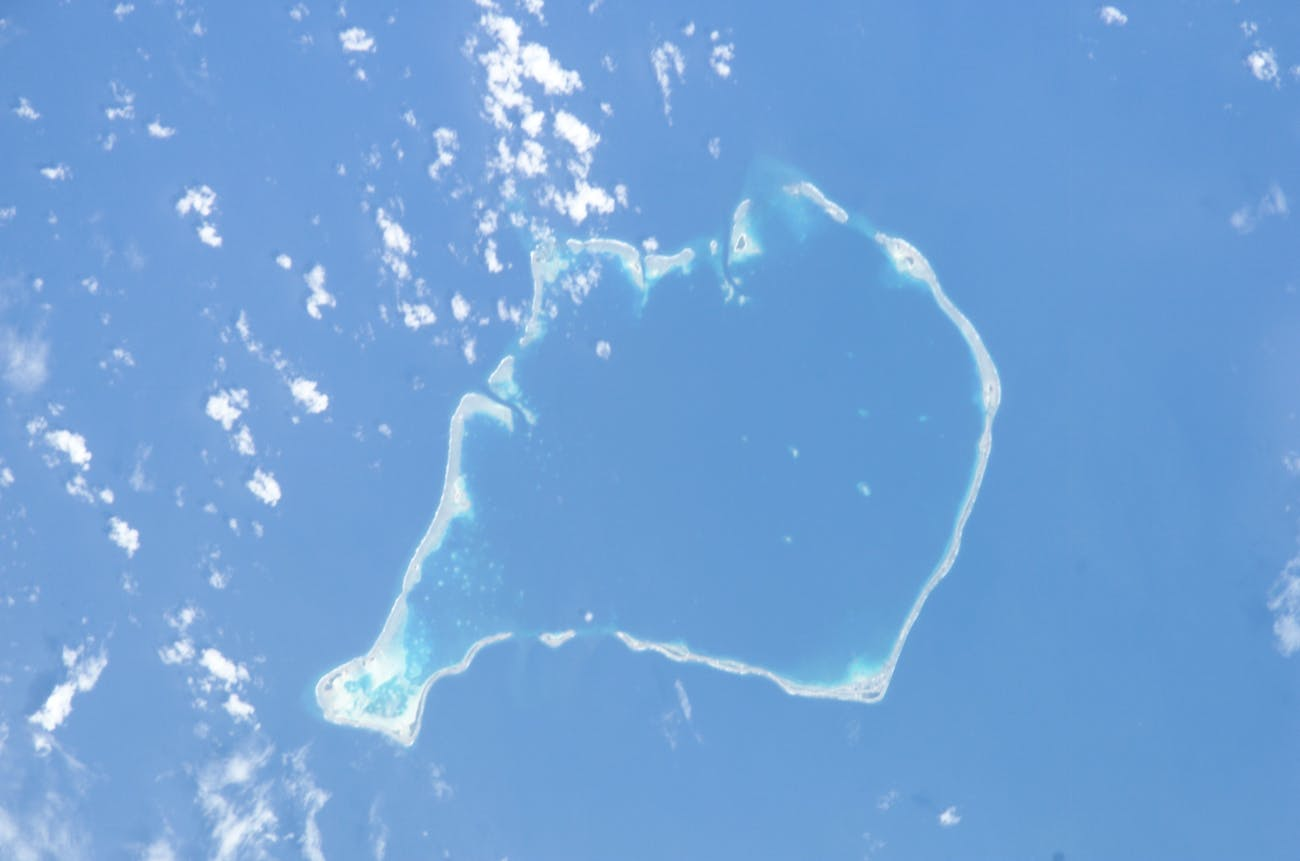 Funafuti (Tuvalu) from space