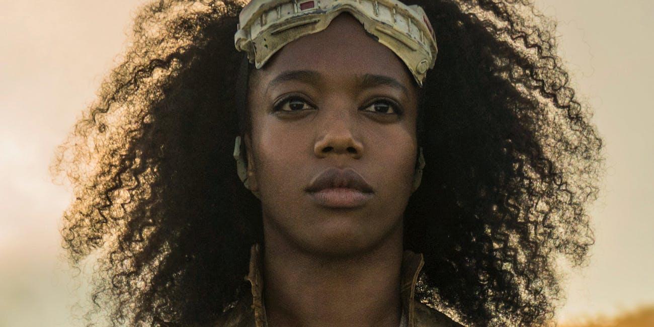 Naomi Ackie as Jannah in The Rise of Skywalker.