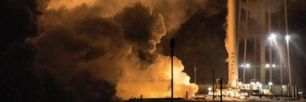 Spacex tests a reusable falcon 9 rocket in mcgregor texas
