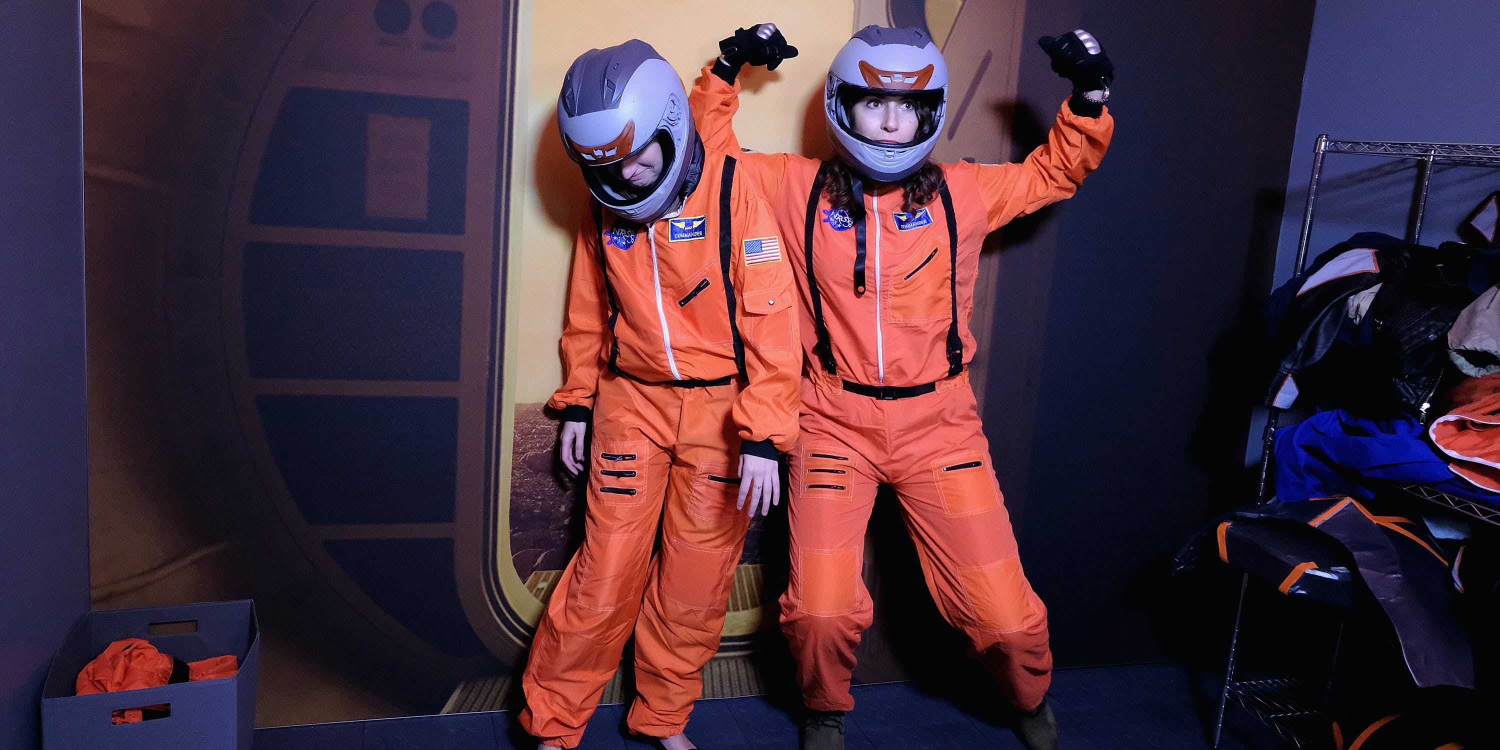Guests attend the premiere part for the National Geographic Channel's 'MARS' miniseries.