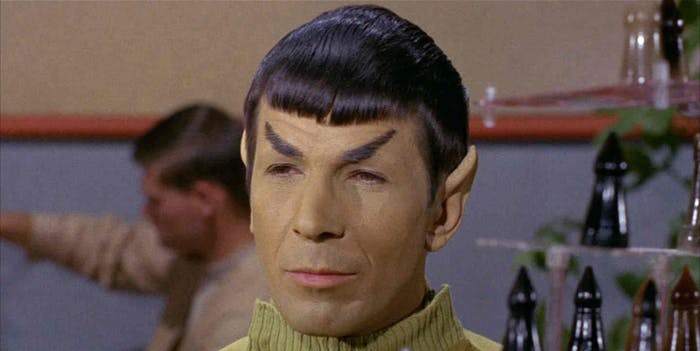 "Spock in ""Where No Man Has Gone Before"""