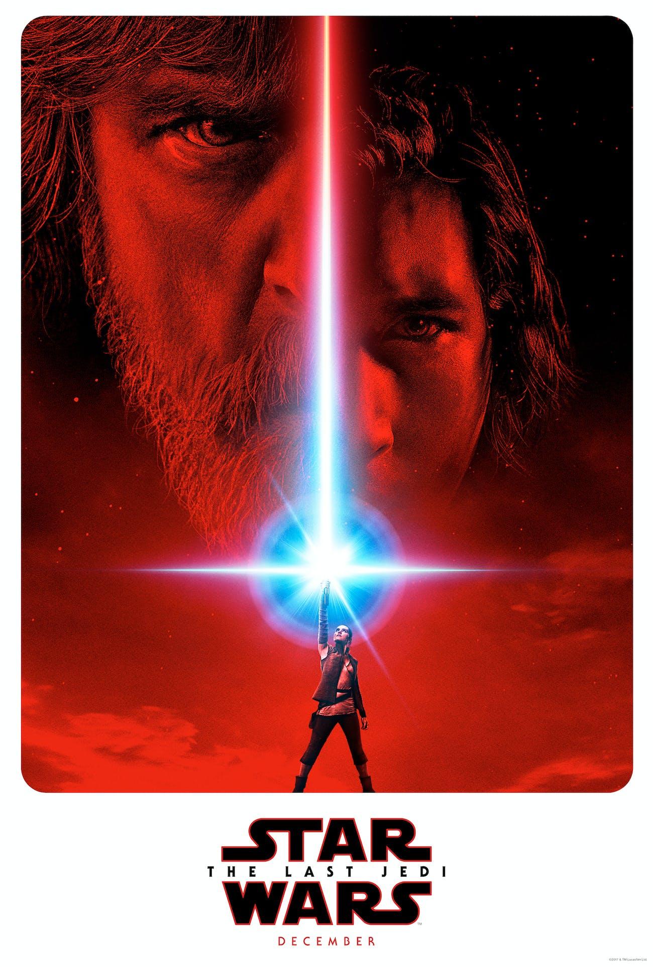 Teaser poster for 'Star Wars: The Last Jedi'.