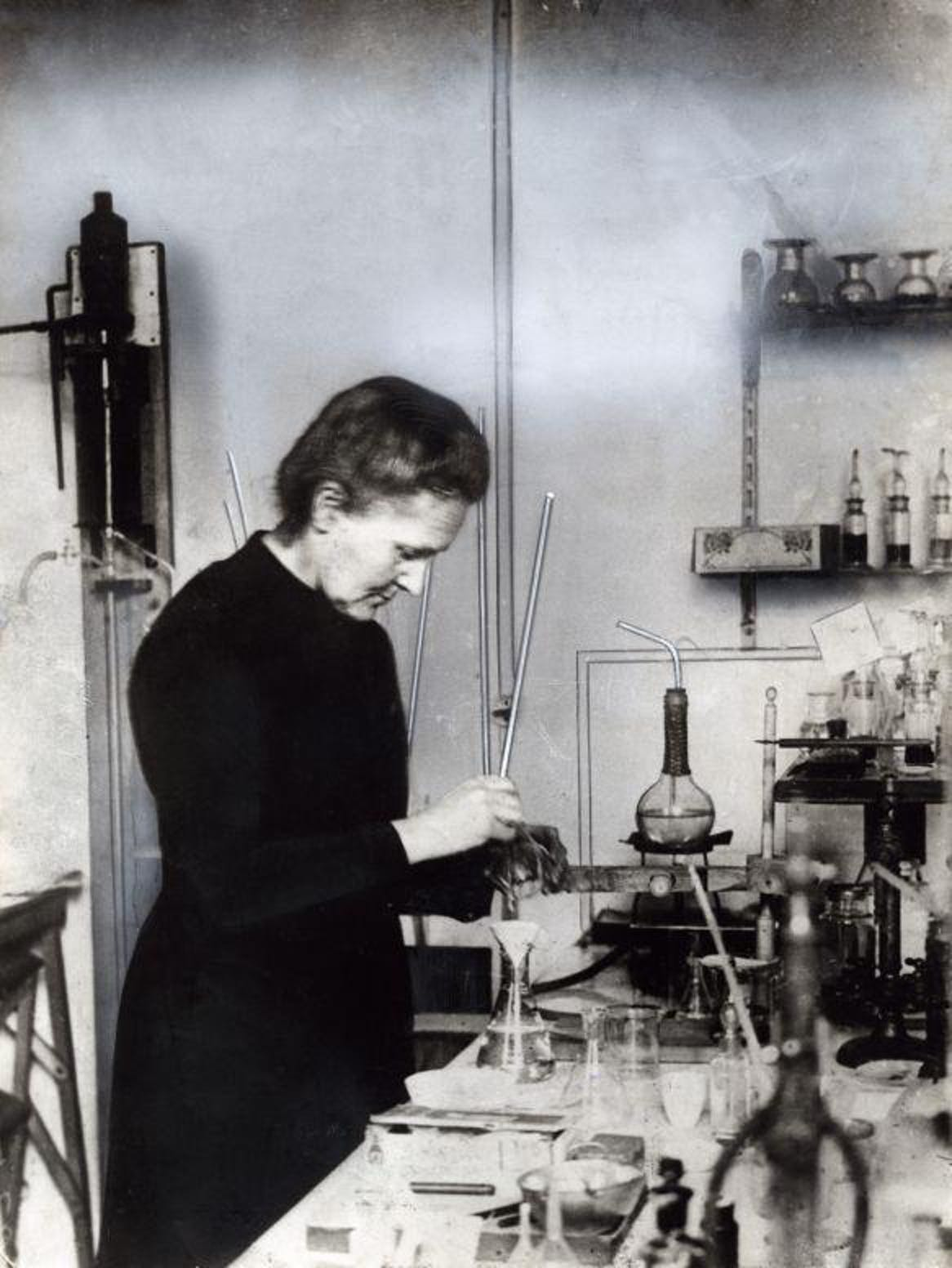 marie curie laboratory lab photograph