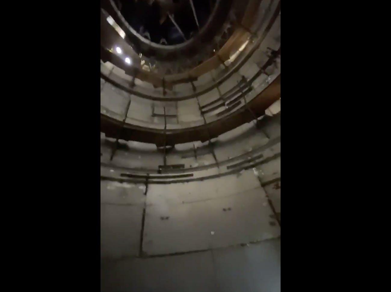 The bare interior of the Starship vessel.