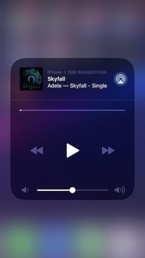 ios 12 siri suggestion music
