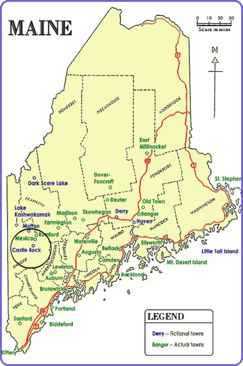 Mexico Maine Map.Castle Rock Everything We Know About Stephen King S Hulu Series