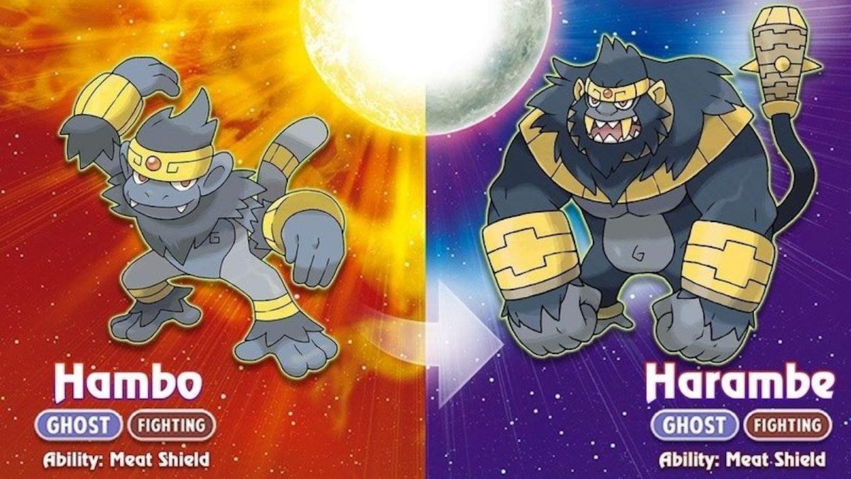 Harambe in Pokémon form.