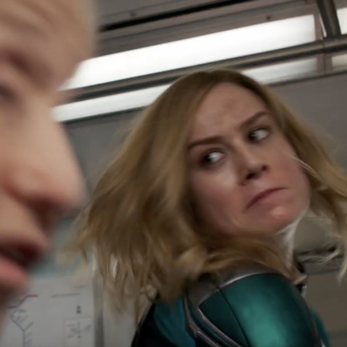 captain marvel' new trailer reveals why she punched that old lady