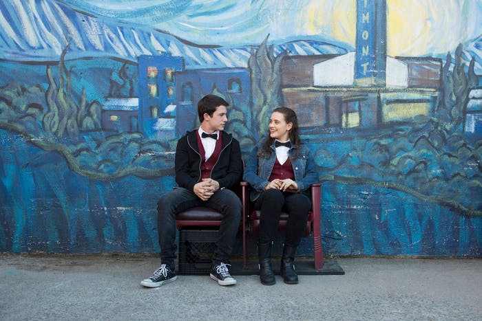 Dylan Minnette and Katherine Langford in '13 Reasons Why'