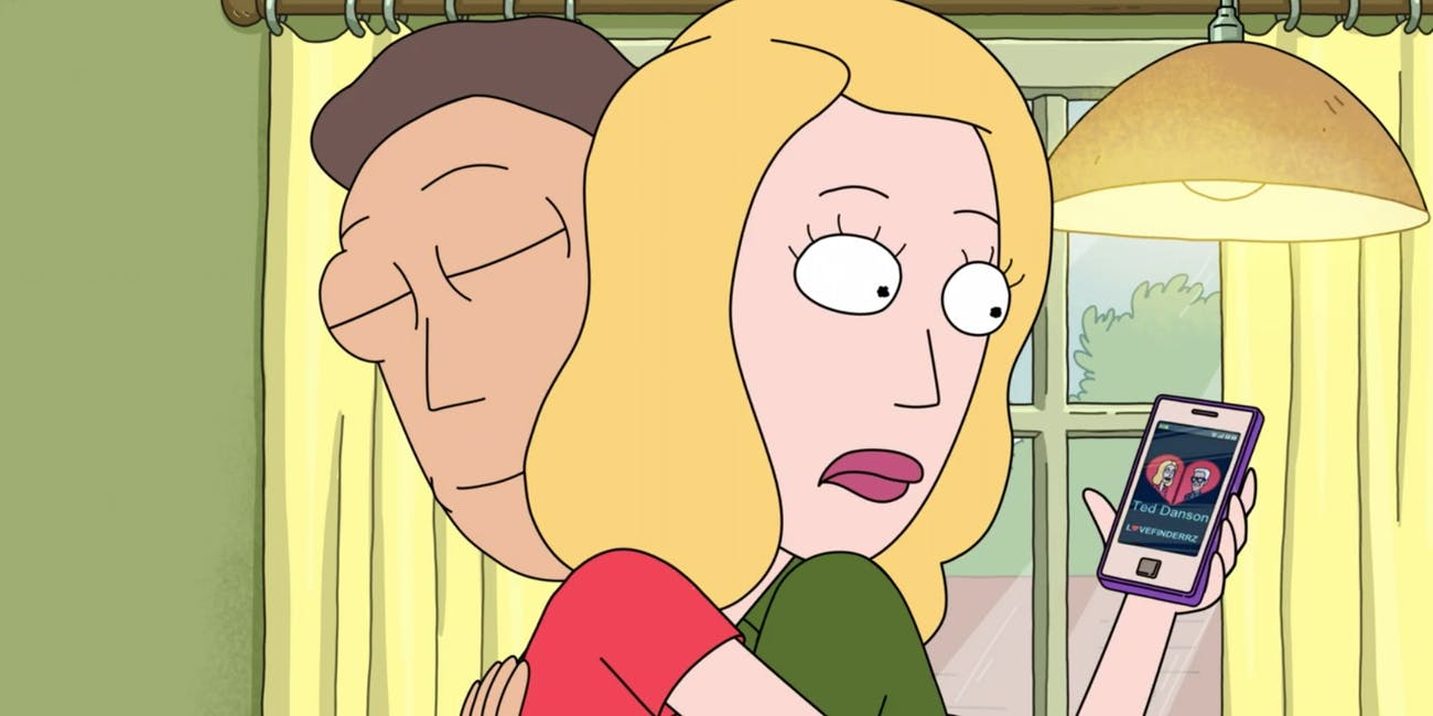 rick and morty beth ted danson match
