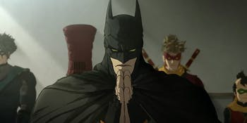Batman is a reverent warrior in feudal Japan.