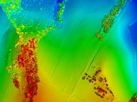 LIDAR bilde av Stevra med skog