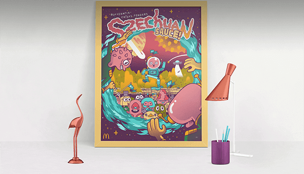 Pretty cool poster McDonald's, even if it's still kind of a vague 'Rick and Morty' rip-off.