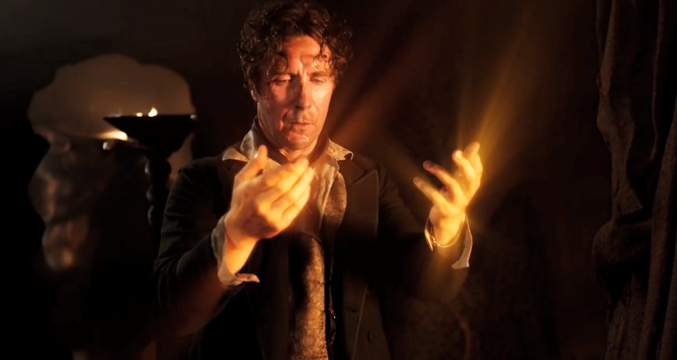 "8th Doctor Paul McGann regenerates into ""The War Doctor"" in ""The Night of the Doctor"""