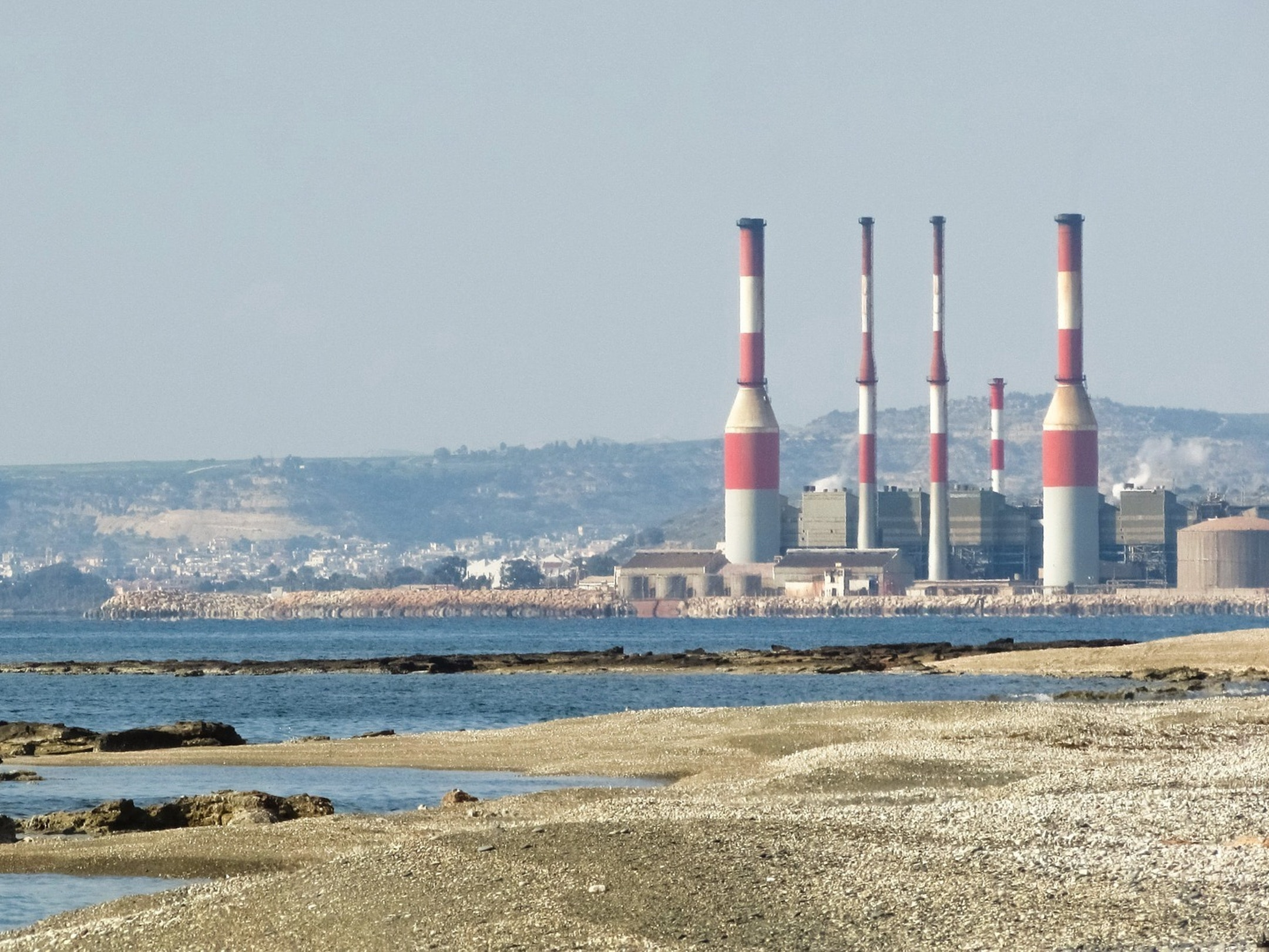 Coast Cyprus Dhekelia Power Plant Ormidhia