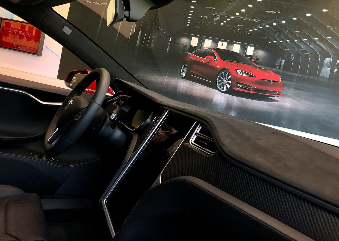 A Tesla Model S electric vehicle.