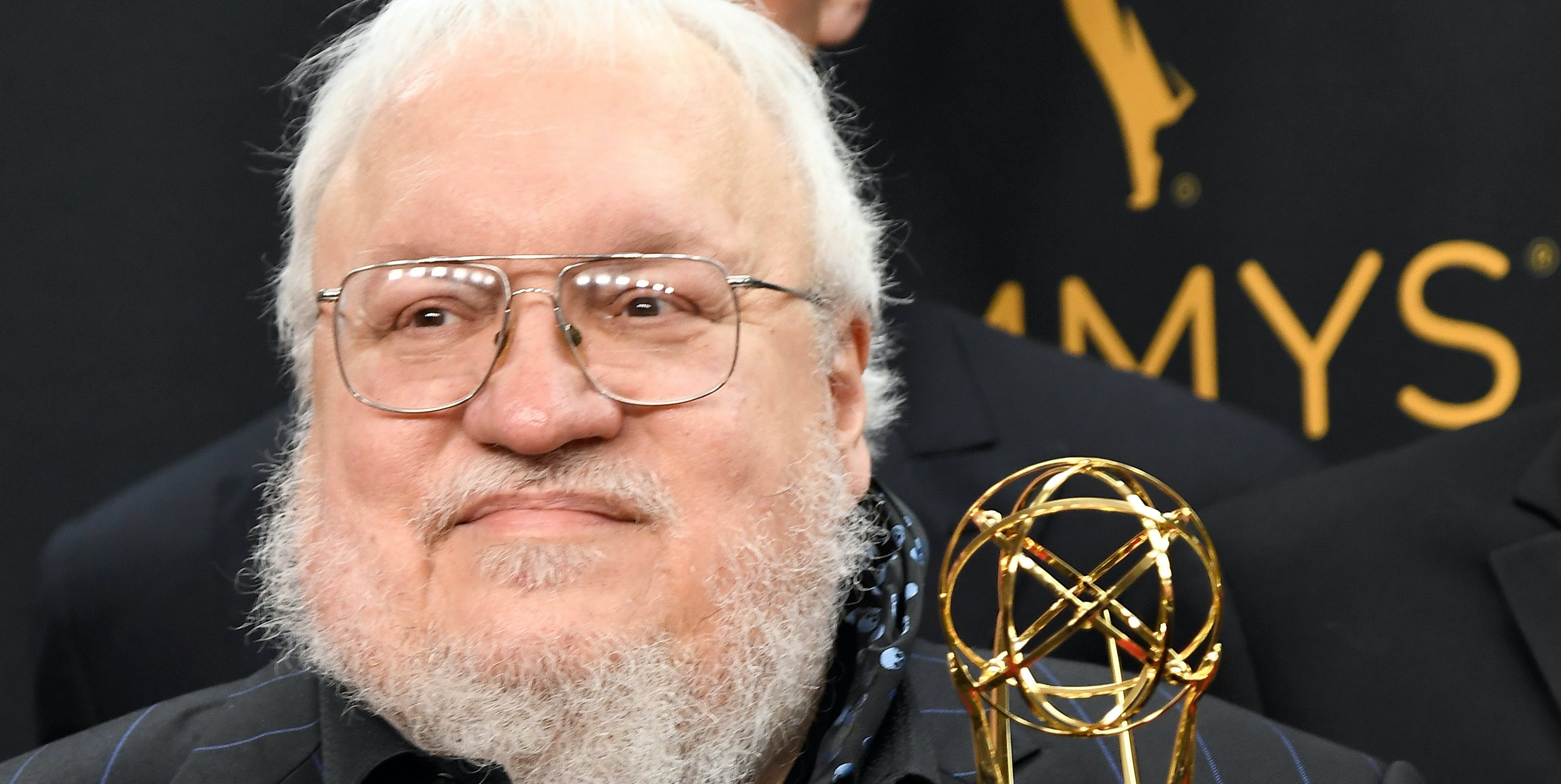 LOS ANGELES, CA - SEPTEMBER 18: Author George R. R. Martin, winner of Best Drama Series for 'Game of Thrones', poses in the press room during the 68th Annual Primetime Emmy Awards at Microsoft Theater on September 18, 2016 in Los Angeles, California.  (Photo by Frazer Harrison/Getty Images)