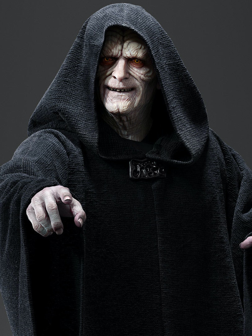 Emperor Palpatine from the 'Star Wars'