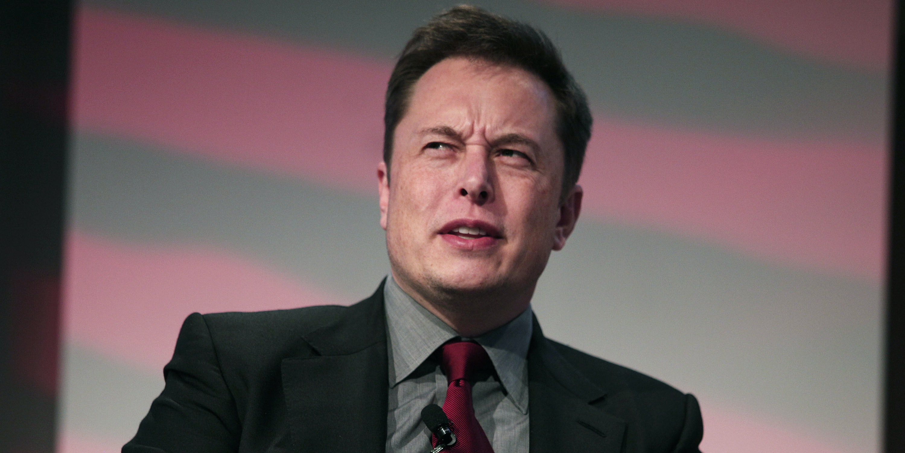 DETROIT, MI - JANUARY 13: Elon Musk, co-founder and CEO of Tesla Motors, speaks at the 2015 Automotive News World Congress January 13, 2015 in Detroit, Michigan. More than 5,000 journalists from around the world will see approximately 45 new vehicles unveiled during the 2015 NAIAS, which opens to the public January 17 and concludes January 25.  (Photo by Bill Pugliano/Getty Images)