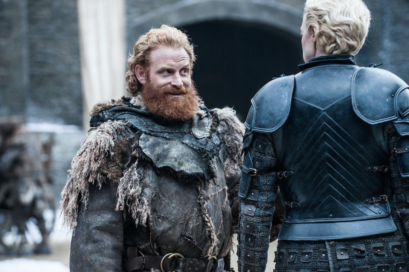 Tormund and Brienne in 'Game of Thrones' Season 7