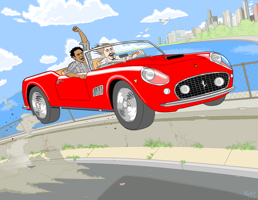 A Pat Hines original recereates a scene from the film'Ferris Bueller's Day Off