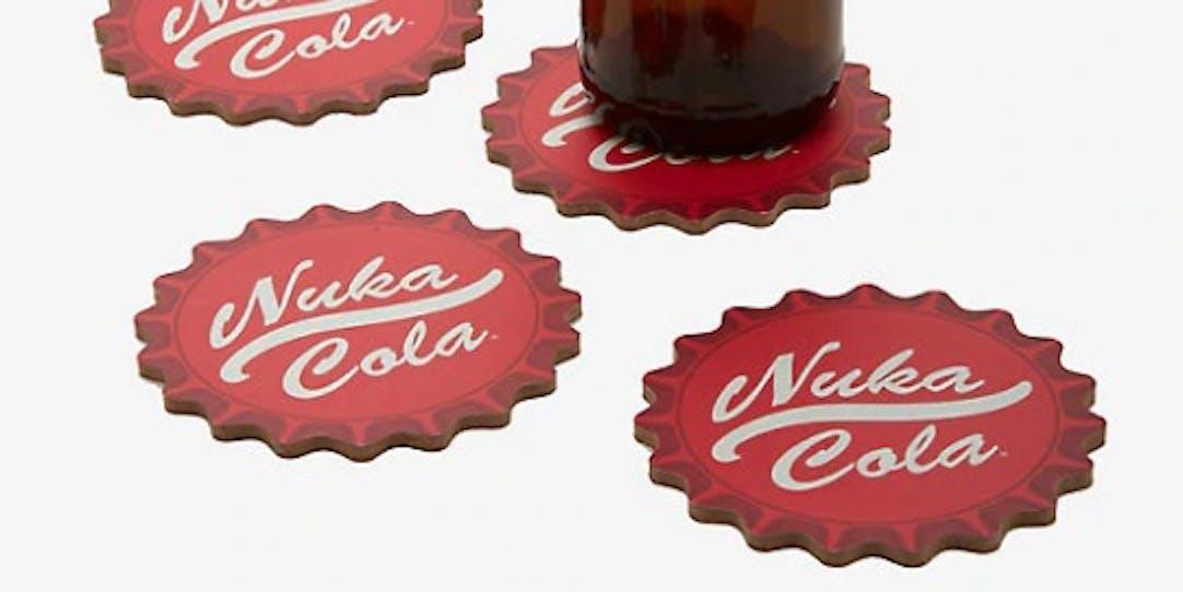 FALLOUT NUKA COLA BOTTLE CAP COASTER SET