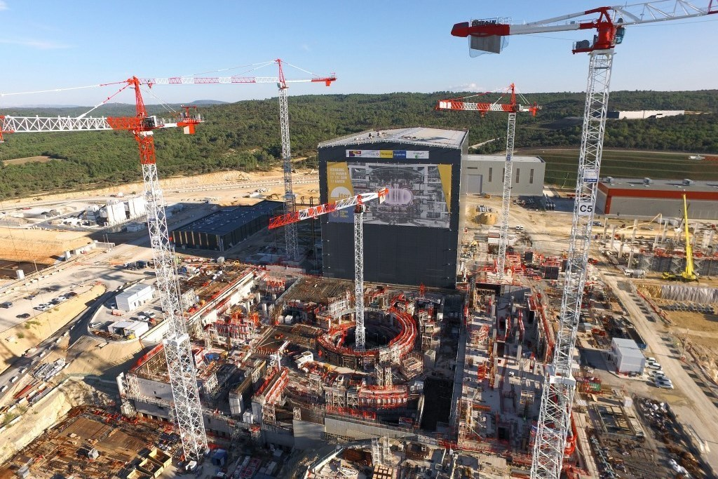 Under construction: The ITER research tokamak in France.