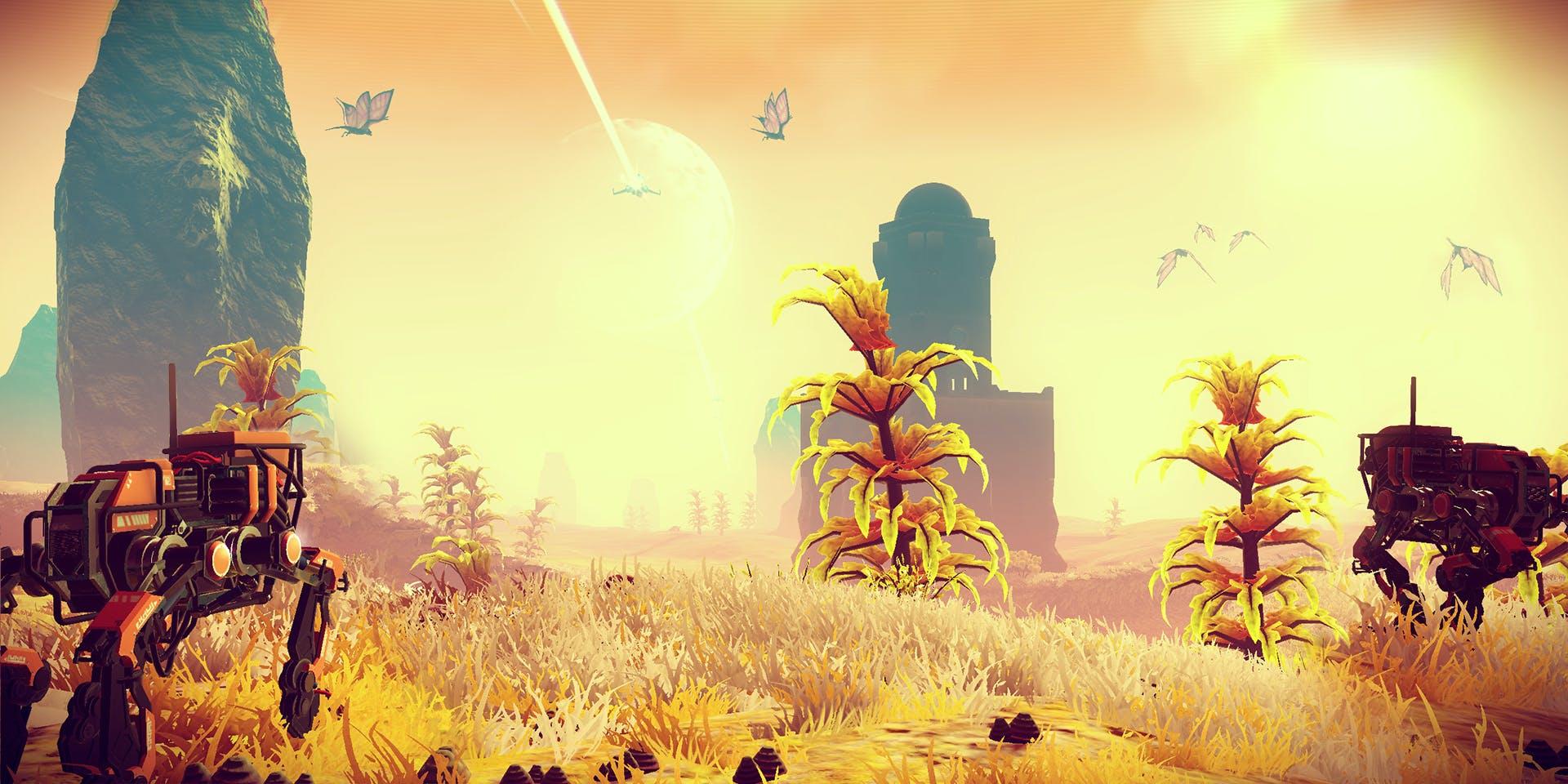 These robots pray to a sun god.