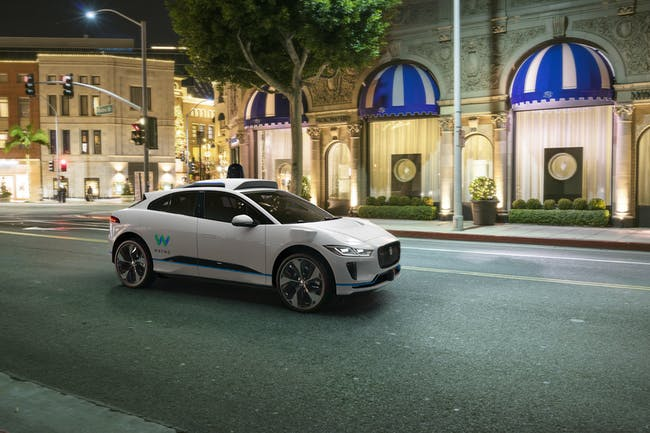 The Jaguar iPace with Waymo self-driving technology was revealed on Tuesday, March 27, 2018 at the New York Auto Show.