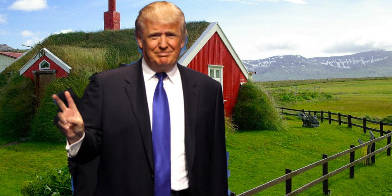 Donald Trump's genealogy goes back to Iceland.