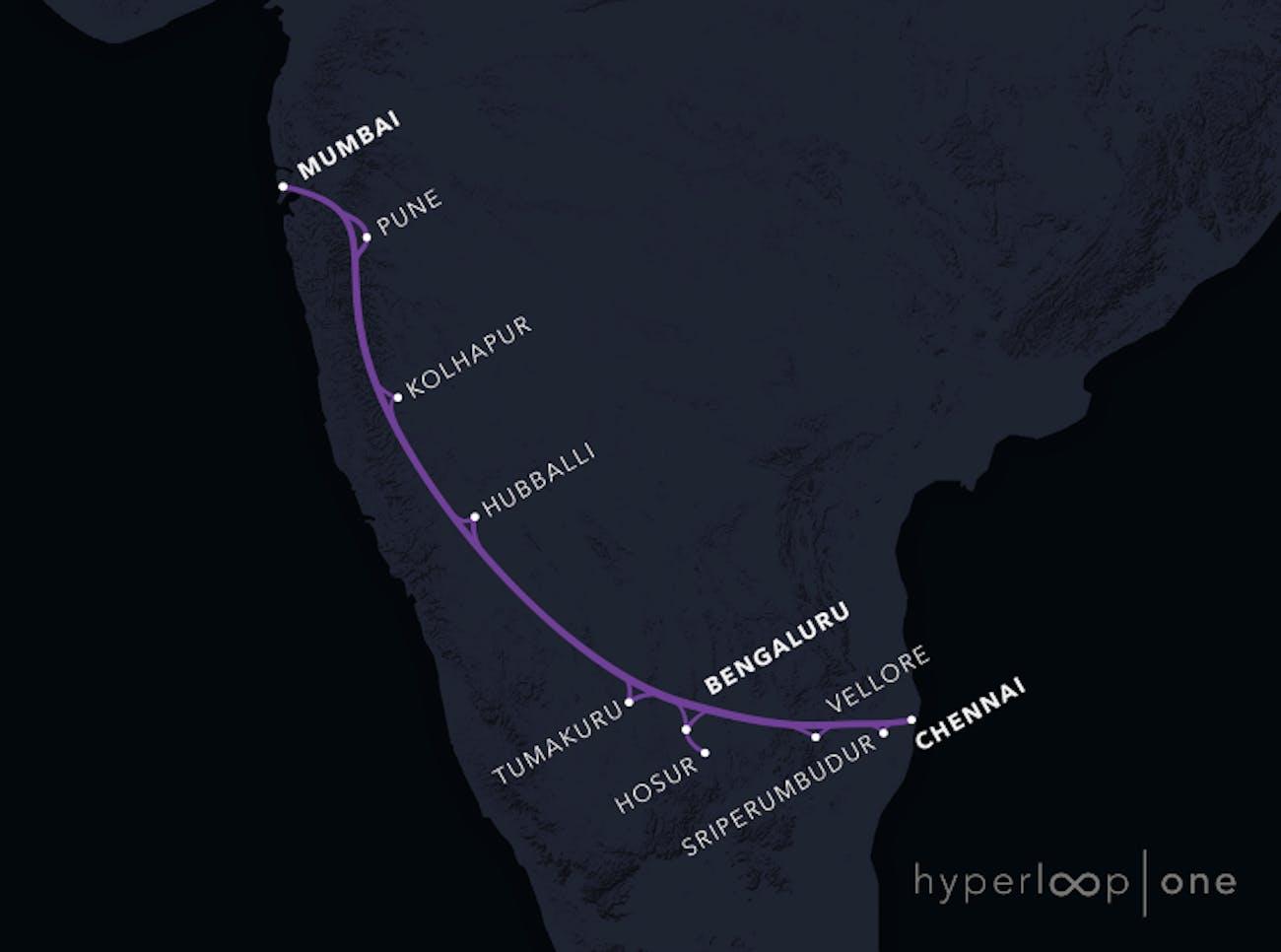 Mumbai-Chennai route.