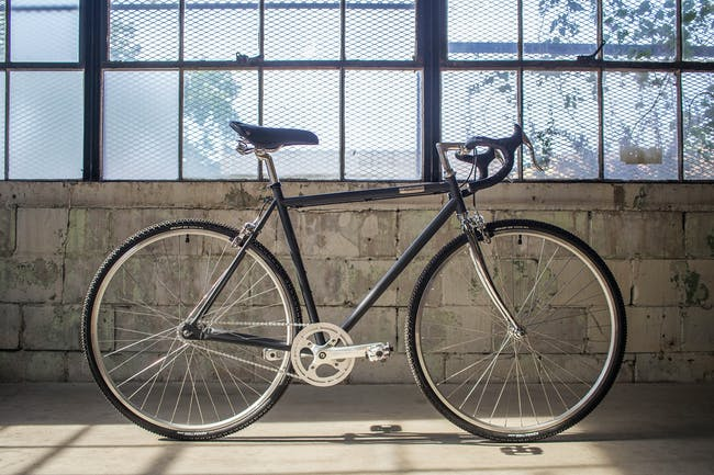 A promotion photo of Detroit Bikes' Type-C model.
