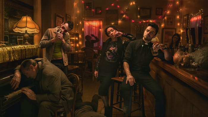 Cassidy, Tulip O'Hare, and Jesse Custer in 'Preacher'.