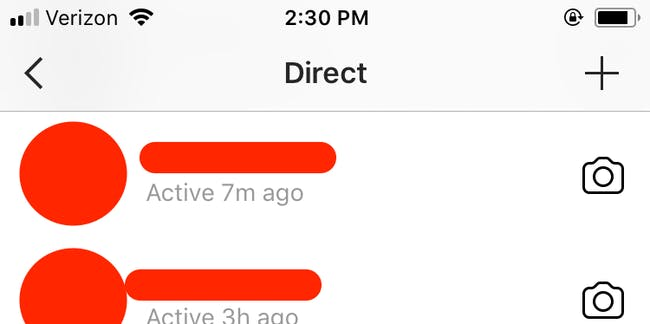 Activity status, instagram, messages