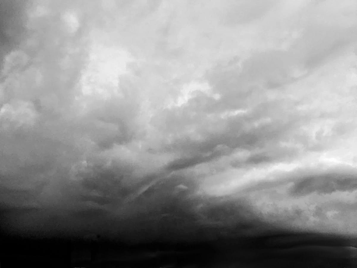 Rain in sunset arriviving home