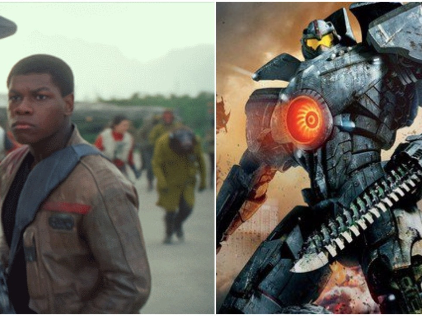 John Boyega Jaeger Pacific Rim: Uprising Photo Debut